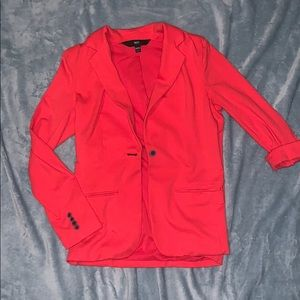 Women's Mossimo Red Cotton Blazer Size Medium